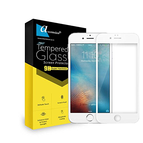 Ascension White Border Tempered Gorilla Screen Protector High 9h Hard 2.5D Ultra Clear for Apple iPhone 7 Plus
