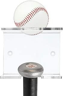 Hipiwe Baseball Bat and Baseball Holder- Wall Mounted Baseball and Bat Display Rack, Clear Acrylic Baseball Bat Wall Hanger