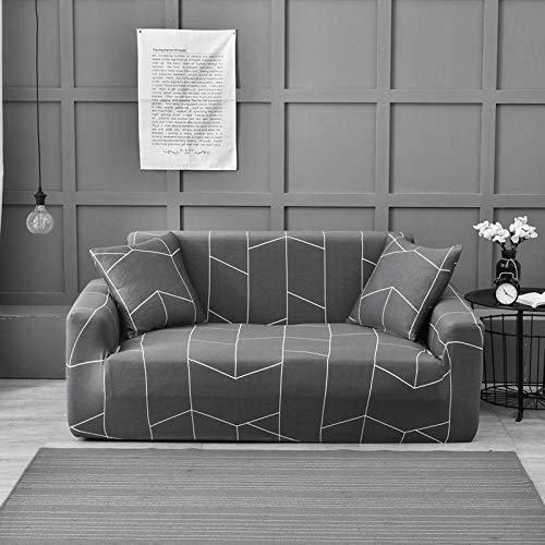 Funda Elástica para Sofá,Fundas Estampadas Fundas elásticas para sofás para Sala de Estar, Toalla para sofá Decoración -F 2 plazas 145-185 cm y 3 plazas 190-230 cm (2 Piezas)