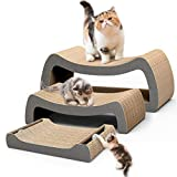 HIPIPET Cat Scratcher Cardboard Cat Scratcher Pad Scratching Posts 3-in-1 Lounge Bed for Large Cats and Little Kitten