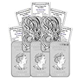 2021 AU Lot of (5) 1 oz Silver Bar Australia Perth Mint Dragon Series Rectangular Coins Brilliant Uncirculated with Certificates of Authenticity by CoinFolio $1 BU