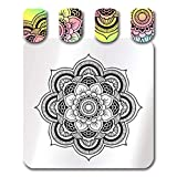 Placas de sello de arte de uñas Placas de estampado de uñas Mandala de flores cortadas para decoración de uñas DIY