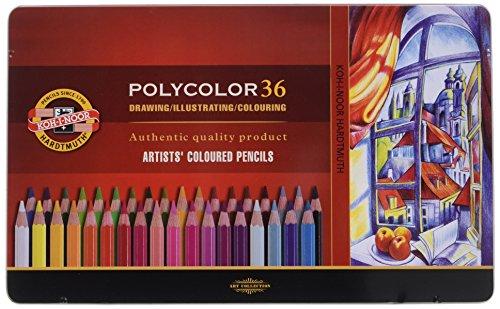 KOH-I-NOOR 3825 Polycolor Artist's Coloured Pencils - Assorted Colour (Set of 36)
