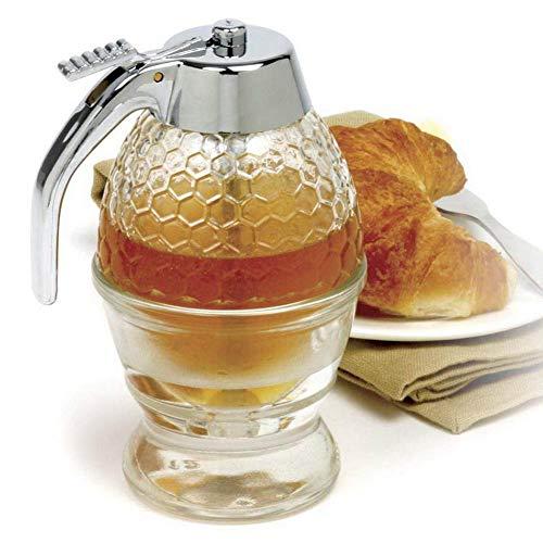 Kerta Bouteille d'assaisonnement de miel portable - Distributeur de miel transparent - Outil de rangement de cuisine