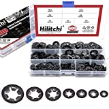 Hilitchi 600-Pcs [7-Size] Internal Tooth Starlock Washers Assortment Kit, Quick Speed Lock...