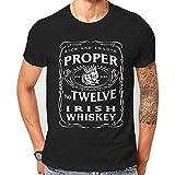 Hombres No Compre en China Proper 12 Whisky Irlandés Mcgregor Inspirado Cuello Redondo Camiseta Manga Corta XL