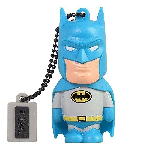 Tribe Warner Bros DC Comics Batman - Memoria USB 2.0 de 8 GB Pendrive Flash Drive de Goma con Llavero, Multicolor