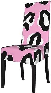 DOGPETROOM moda leopardo blanco y negro gran silla de comedor cubierta de alta espalda para hotel fiesta boda cocina
