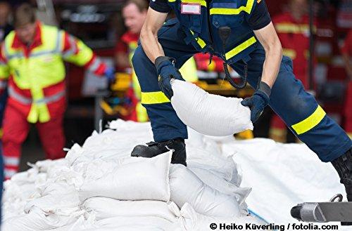 Sackfabrik24 Sandsäcke 100 er Pack Hochwassersäcke strapazierfähig und reißfest Maße: 30 x 60 cm Farbe: weiß mit Zugband