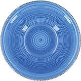 QUID Set 6 ciotole per zuppa in ceramica gres | piatti fondi blu 18 cm standard