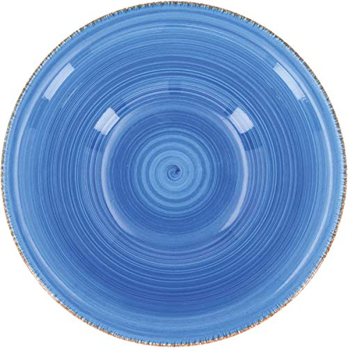 Quid Set 6 Cuencos para Sopa de cerámica gres | Platos hondos Azules 18 cm, Estandar
