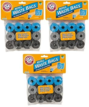 Arm & Hammer Waste Bag Refill Assorted Colors 540ct  3 x 180ct