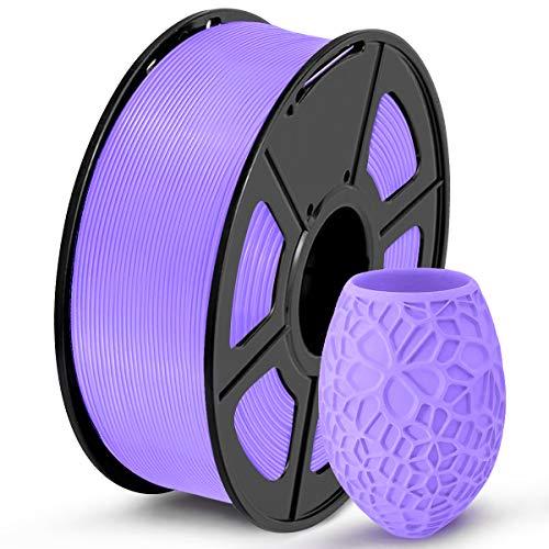 SUNLU PLA 3D Printer Filament, PLA Filament 1.75mm Dimensional Accuracy +/- 0.02mm, 1KG Spule, PLA Purple