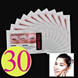 Baisidai 10/30/50/100pcs Under Eye Pads Patch Taps for DIY False Eyelash Lashe Extension Makeup (30pcs)