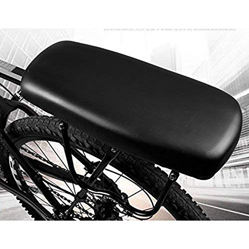 Buy Discount QFDYEQF128 Bicycle Back Seat Soft Thick Bicycle Rear Seat Cushion FIYRPKOO (Color : Bla...