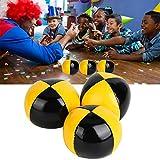 Keen so 3Pcs Amarillo Negro PU Thud Juggling Balls Juego de Bolas de Malabares de Contacto portátil Payaso Jugando Juego de Bolas de Malabares con Bolsa de Almacenamiento para Principiantes