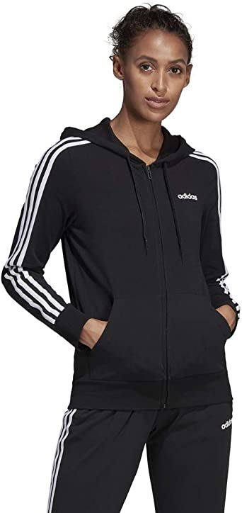Amazon.com: adidas Women's Essentials 3-stripes Single Jersey Full ...