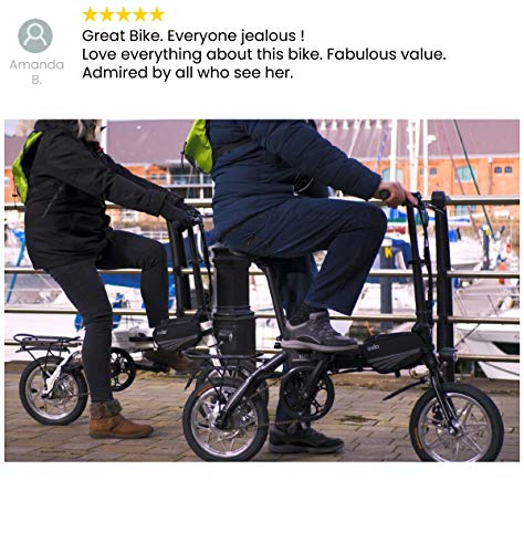 eelo 1885 Disc Folding Electric Bike - Portable Easy to Store in Caravan, Motor Home, Boat. Short Charge Lithium-Ion Battery and Silent Motor eBike