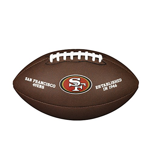 Wilson Unisex-Adult NFL LICENSED BALL SF American Football, BROWN, Uni