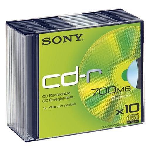 Sony CD-R 80 700MB CDQ80NSLD - Confezione da 10