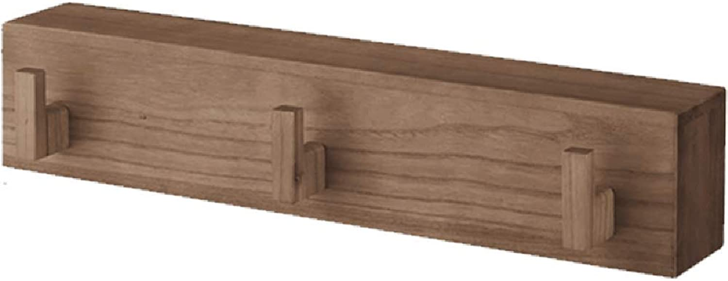 Chunlan Coat rack Solid Wood Wall Hanger Multifunction Shelf Available in A Variety of Sizes and colors (color   B, Size   60  13.5  12cm)