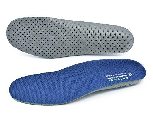 Knixmax Sport Einlegesohlen Komfort Schuheinlagen für Alltag und Beruf - Dämpfung und Atmungsaktiv - Ideal für Wandern, Laufen, Outdoor - für Masche Marineblau Herren Gr.46 EU