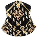 Linger In Calentador de Cuello Scottish Tartan Grunge Leopard Scarf, Neck Gaiter, Neck Cap Half Mask Balaclava Headwear