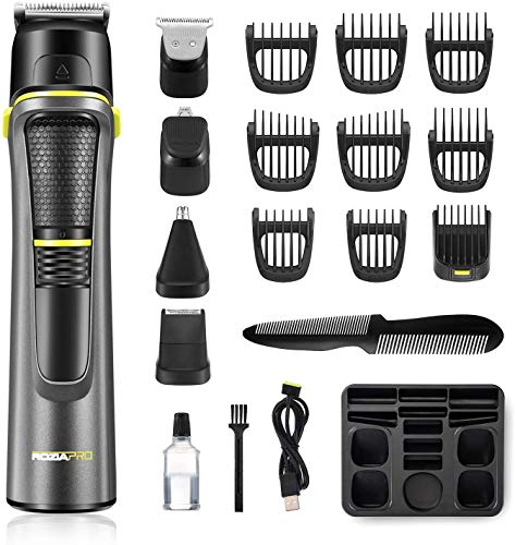 Roziahome Beard Trimmer Professional Hair Clippers for Men 14 in 1 Grooming Kit Trimmer for Men...