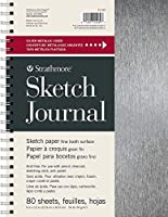 "Strathmore (STSKW) STR-025-539 Sketch Journal 80 Sheets, 9"" x 12"", Metallic Silver [並行輸入品]"