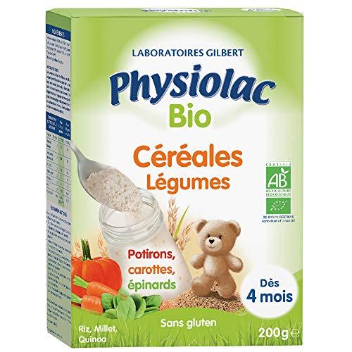 PHYSIOLAC Céréales Aux Légumes 4m 200g Bio - 200 Gr