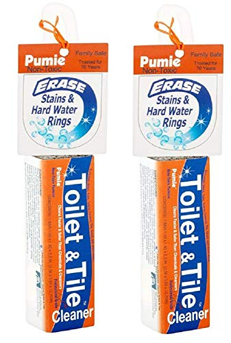 Pumie Toilet amp Tile Pumice Cleaner Pumice Stick with Handle MultiFunction Toilet Bowl Cleaner by US Pumice Bath8 Pack of 2