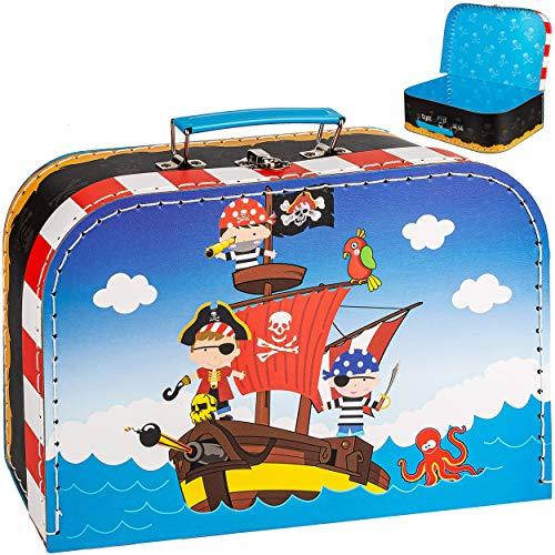 alles-meine.de GmbH Koffer / Kinderkoffer - Motivwahl - GROß - Pirat & Piratenschiff - 29 cm - ideal für Spielzeug und als Geldgeschenk - Pappkoffer - Puppenkoffer - Kinder - Pap..