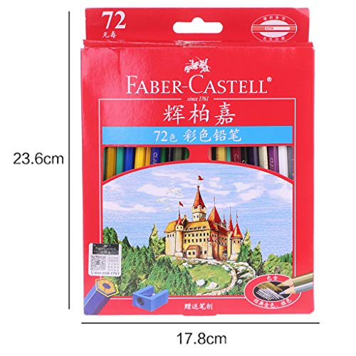 qingqingR 36-72 Piezas Faber Castell lápices de Colores Lapis De Cor Professionals Artist Painting Oil Color Pencil with Roll-up Canvas Pencil Case For Drawing Sketch Art Supplies