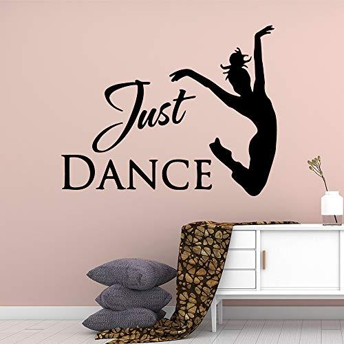 Spaß nur tanzende Mädchen Vinyl Wandaufkleber für Mädchen Zimmer Vinyl Aufkleber Wandbild 57 * 71 cm