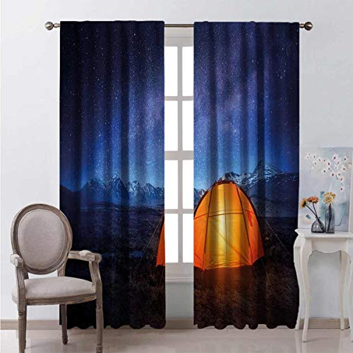 Flyerer Camp Tent Holiday Journey Curtain for Bathroom The Best Choice for Bedroom and Living Room W96 x L96  Great for Living Room and Bedroom