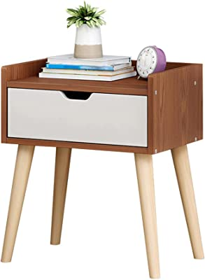 Amazon.com: Lebeauty Nightstand with 2 Drawers Bedside Table ...