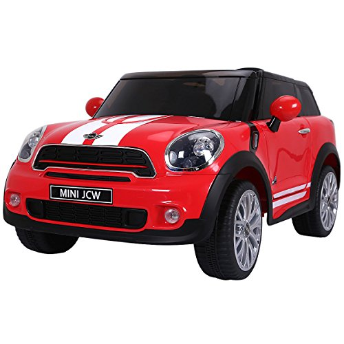 Costzon Kids Ride On Car, Licensed 12V Electric Mini PACEMAN, Remote Control Two Modes Operation, MP3 Lights (Red)