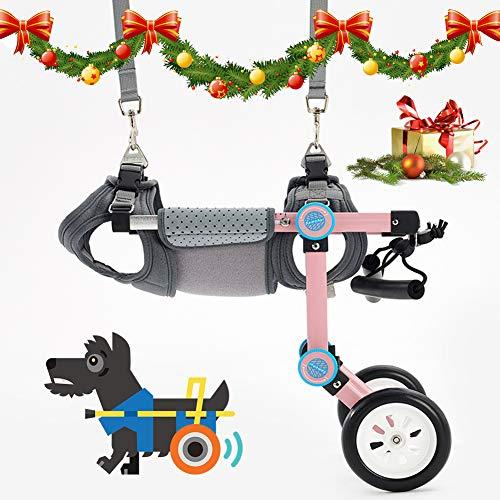 Ciclomotor Scooter para Mascota, para Perros Scooter de Entrenamiento de rehabilitación Adecuado para Perro Discapacitado Paralizada Patas Traseras Rehabilitación del Caminar Asistido,XS Widened
