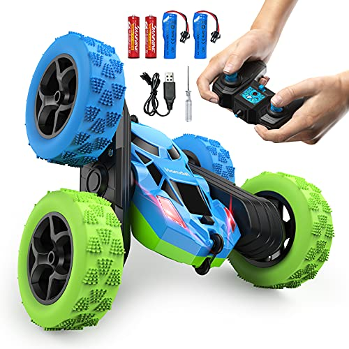Remote Control Stunt Car Toys, Hamdol 360° Double-Side Rotating RC Car 4WD 2.4GHz Rechargeable...