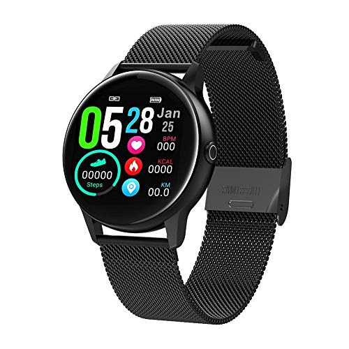 Reloj Inteligente para Mujer Dt88, Pantalla táctil, Bluetooth IP68, Resistente al Agua, frecuencia cardíaca, medición de la presión Arterial, para Hacer Deporte, Fitness, para iOS y Android
