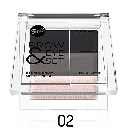 Kit maquillage yeux et sourcils - 02 Brun - Bell