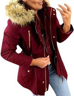 Abrigos Mujer Invierno Elegantes Cazadoras Slim Calido Chaqueta con Capucha Capa Jacket Sudadera Pullover Outwear Parka Fa...