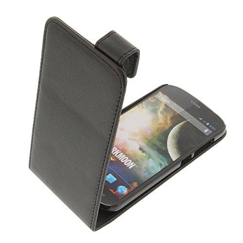 foto-kontor Tasche für Wiko Darkmoon Flipstyle Schutz Hülle schwarz