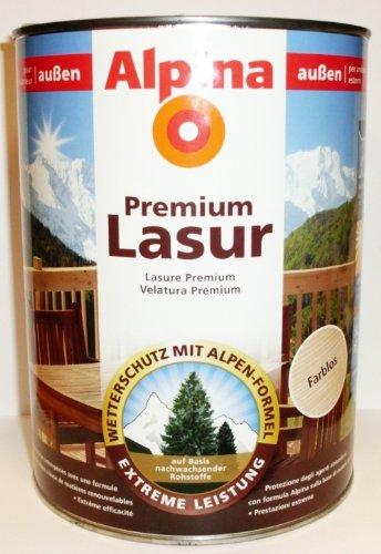 ALPINA Premium Lasur, 2,5 L. Holz Dickschichtlasur außen, Ebenholz