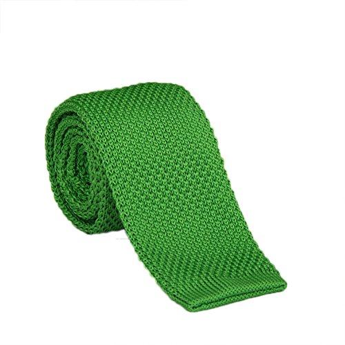 Demarkt Herren Strickkrawatte Strick Krawatte Business Krawatte aus Strick Grün 145x5cm