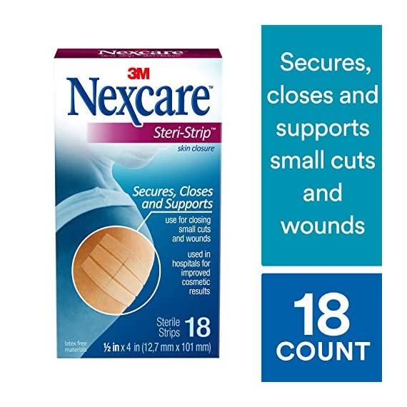 Nexcare steri-strip wound closure, secures and closes small cuts and wounds, alternative to butterfly bandages, 1/2 inch… 2 skin closure secures used in hospitals for improved cosmetic results breathable for added comfort