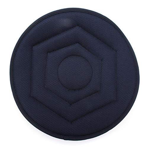 RJRK Non-Slip Seat Revolving Rotating Cushion,Memory Swivel Foam Mobility Aid Seat Cushion In Chair Tie On Pad(1Pcs)