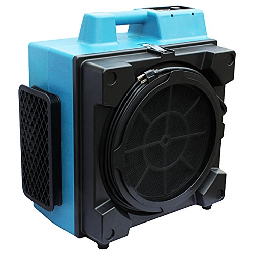 XPOWER Manufacture, Inc. XPOWER X-3580 Commercial 4 Stage Filtration HEPA Purifier System Air Scrubber - Blue