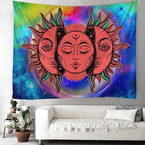 KHKJ Tapiz de decoración de habitación de Dios Sol Mandala, tapices de decoración de Pared, decoración del hogar, decoración Boho, Tapiz de brujería A2 150x130cm