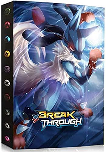 Álbumes Compatible con Cartas Pokemon, Carpeta Compatible con Cartas de Pokémon, Álbum Titular Compatible con Cartas Pokémon, 30 páginas con capacidad para 240 cartas (Lucario) ✅